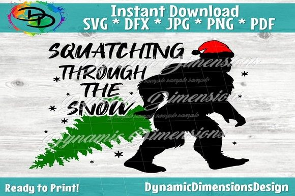 Print on Demand: Squatching Through the Snow, Sasquatch Graphic Crafts By dynamicdimensions