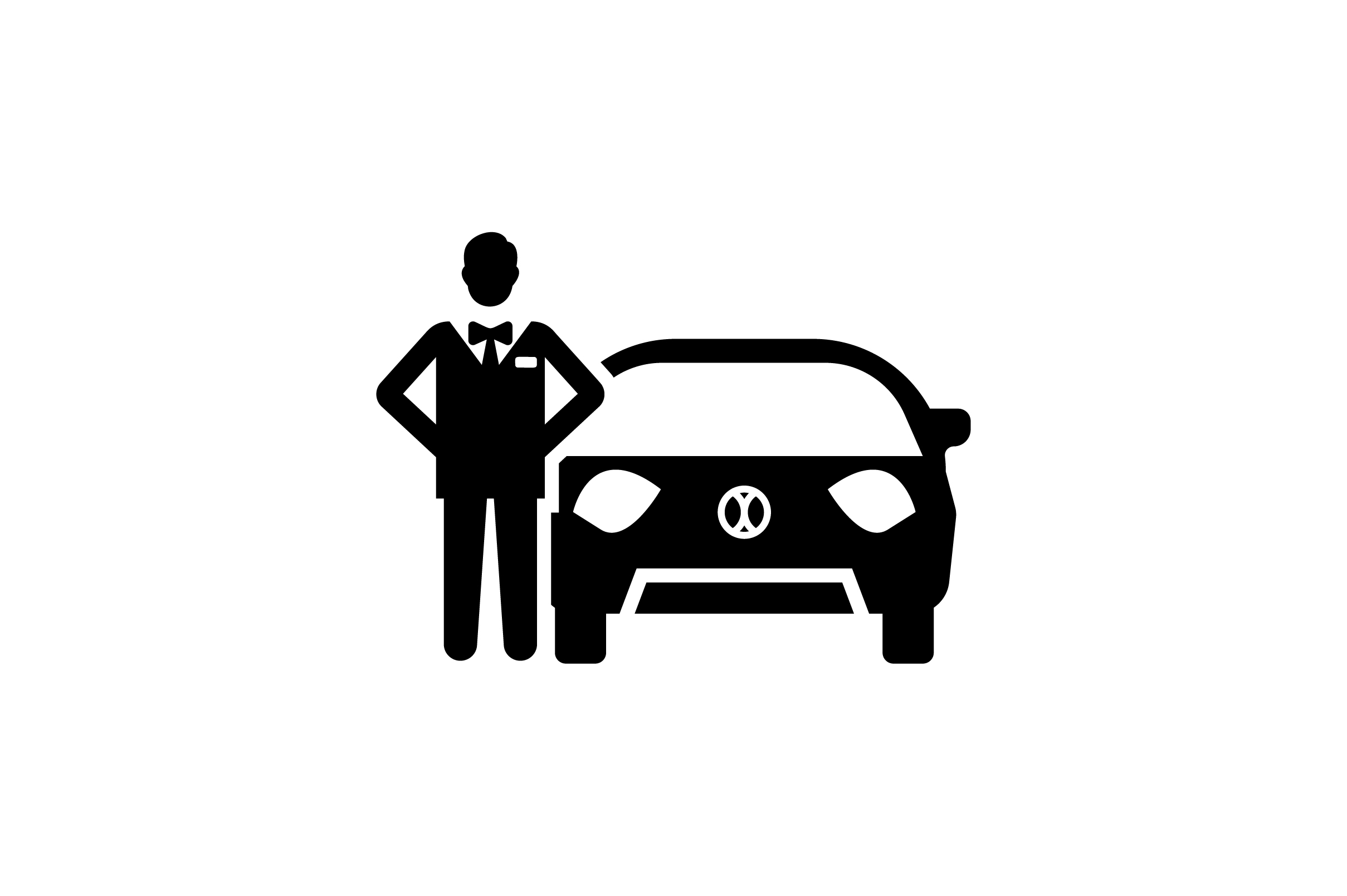 Download Free Man Stand By A Car Glyph Vector Icon Graphic By Riduwan Molla for Cricut Explore, Silhouette and other cutting machines.