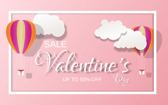 Valentine Day Banner Sale Graphic Graphic Templates By ngabeivector