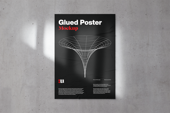Glued Poster Mockup Graphic Product Mockups By unio.creativesolutions