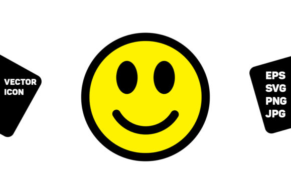 Download Free Happy Icon Smiley Emoticons Graphic By Tuktuk Design Creative for Cricut Explore, Silhouette and other cutting machines.