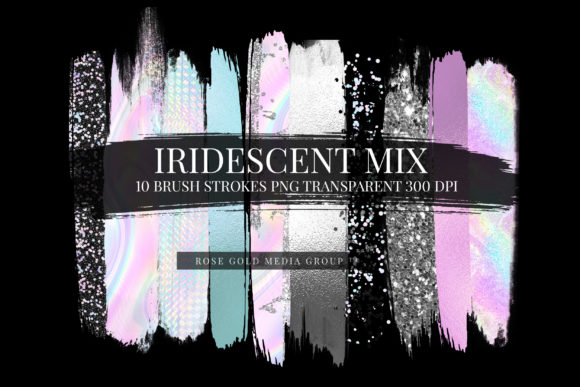 Iridescent Hologram Brushes Graphic Textures By Semora Bleue - Image 2