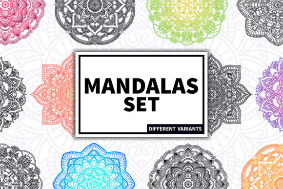Mandalas Set Graphic Patterns By kroljastock