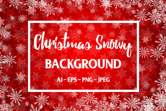Print on Demand: Red Christmas Background Graphic Backgrounds By elionorik