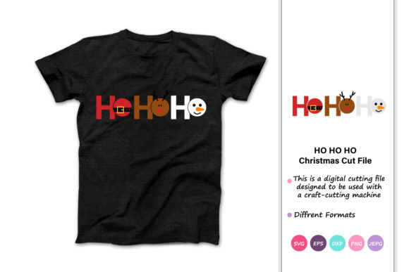 Print on Demand: Ho Ho Ho Funny Christmas Quotes Graphic Crafts By iprintasty