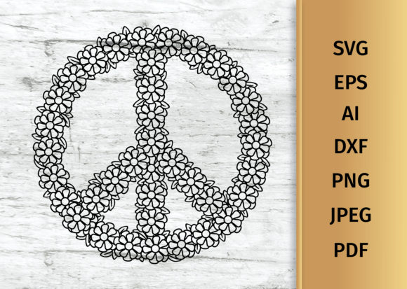 Download Floral Peace Sign