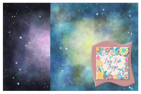 Print on Demand: Galaxy Backgrounds Graphic Backgrounds By Lucy Kate Design