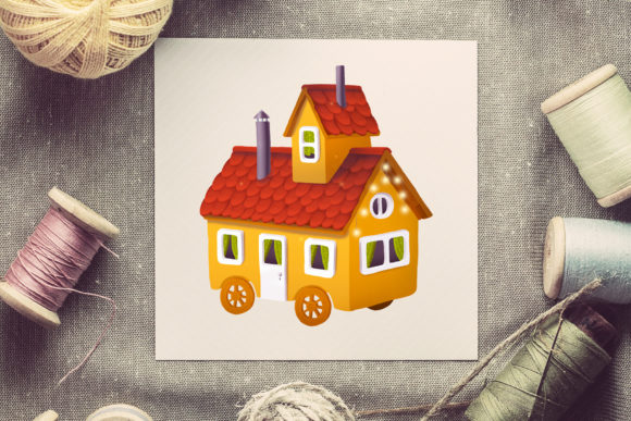 Print on Demand: House Illustrations Set Graphic Illustrations By Architekt_AT - Image 4