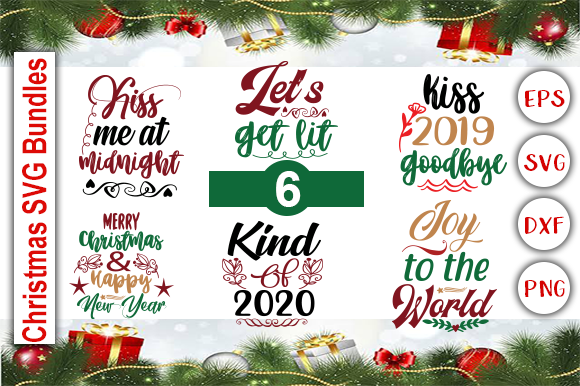 Download Free Christmas Bundle Graphic By Graphics Cafe Creative Fabrica for Cricut Explore, Silhouette and other cutting machines.
