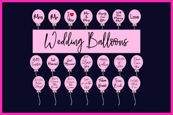 Print on Demand: Wedding Balloons Graphic Product Mockups By colorsplash