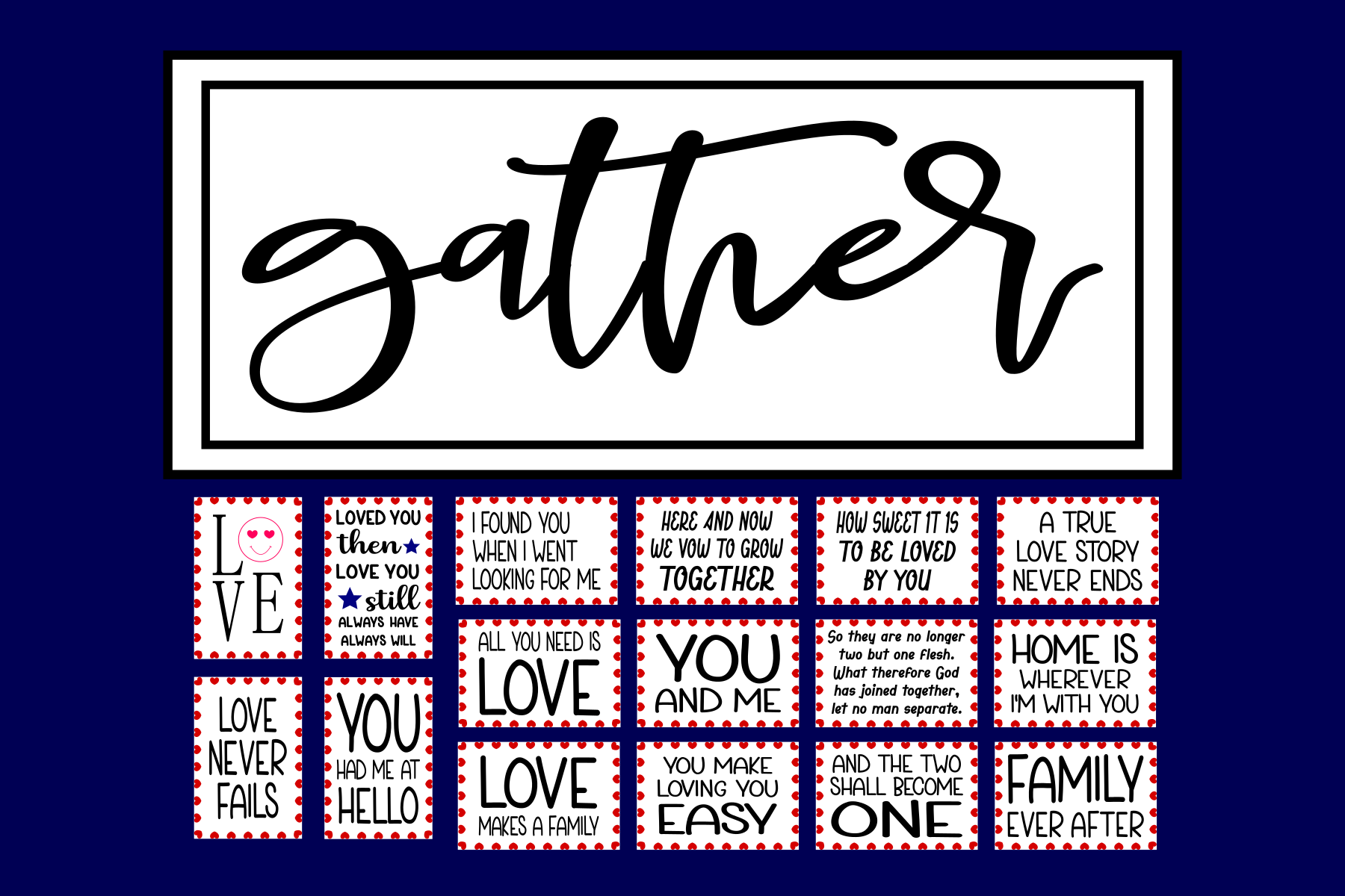 Download Free Love Quotes And Table Numbers Graphic By Colorsplash Creative for Cricut Explore, Silhouette and other cutting machines.