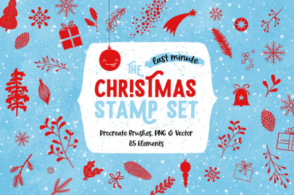 The *last Minute* Christmas Stamp Set Graphic Brushes By Suemomo
