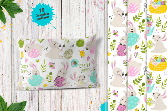 Download Free Spring And Easter Patterns Graphic By Nafanya Creative Fabrica for Cricut Explore, Silhouette and other cutting machines.