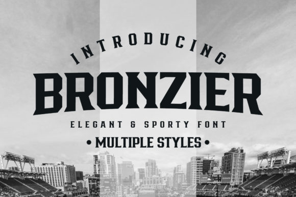 Print on Demand: Bronzier Serif Font By Arterfak Project