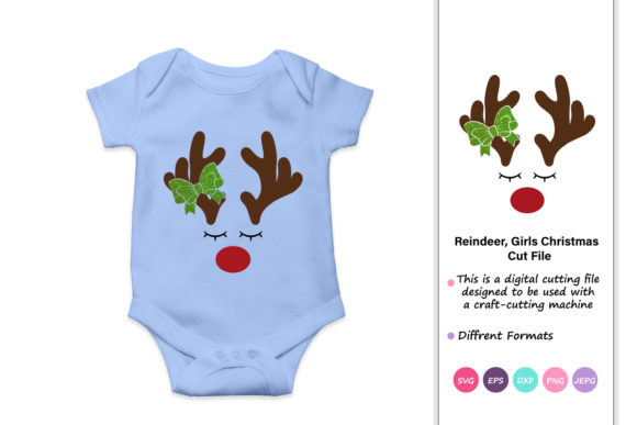 Print on Demand: Reindeer Girls Christmas Red Nosed Graphic Crafts By iprintasty