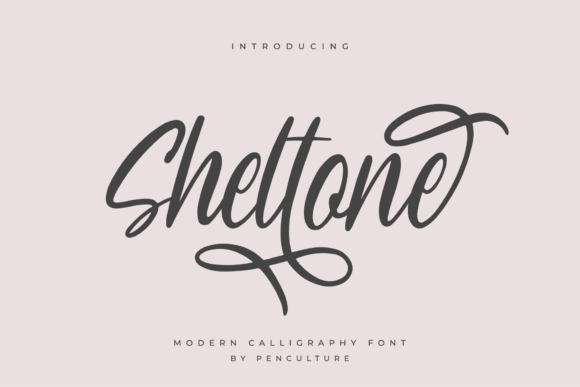 Print on Demand: Sheltone Script & Handwritten Font By Pen Culture