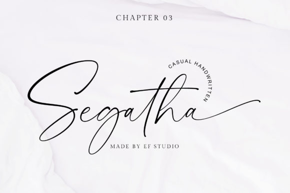 Print on Demand: Segatha Script & Handwritten Font By Ef Studio