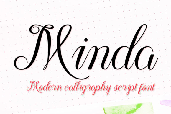 Print on Demand: Minda Script Script & Handwritten Font By Nandatype