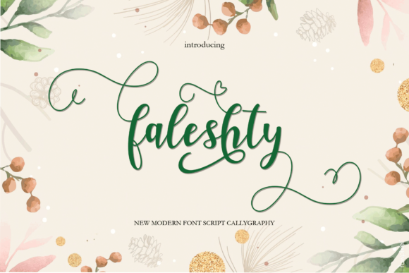 Print on Demand: Faleshty Script & Handwritten Font By yasirstudio91
