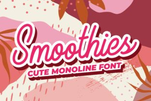 Print on Demand: Smoothies Script & Handwritten Font By variatype.id