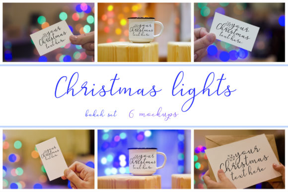 Print on Demand: Christmas Lights. Mockup Set Graphic Product Mockups By Natalia Arkusha