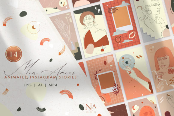 14 Mon Amour Animated Stories Graphic Illustrations By NassyArt - Image 1