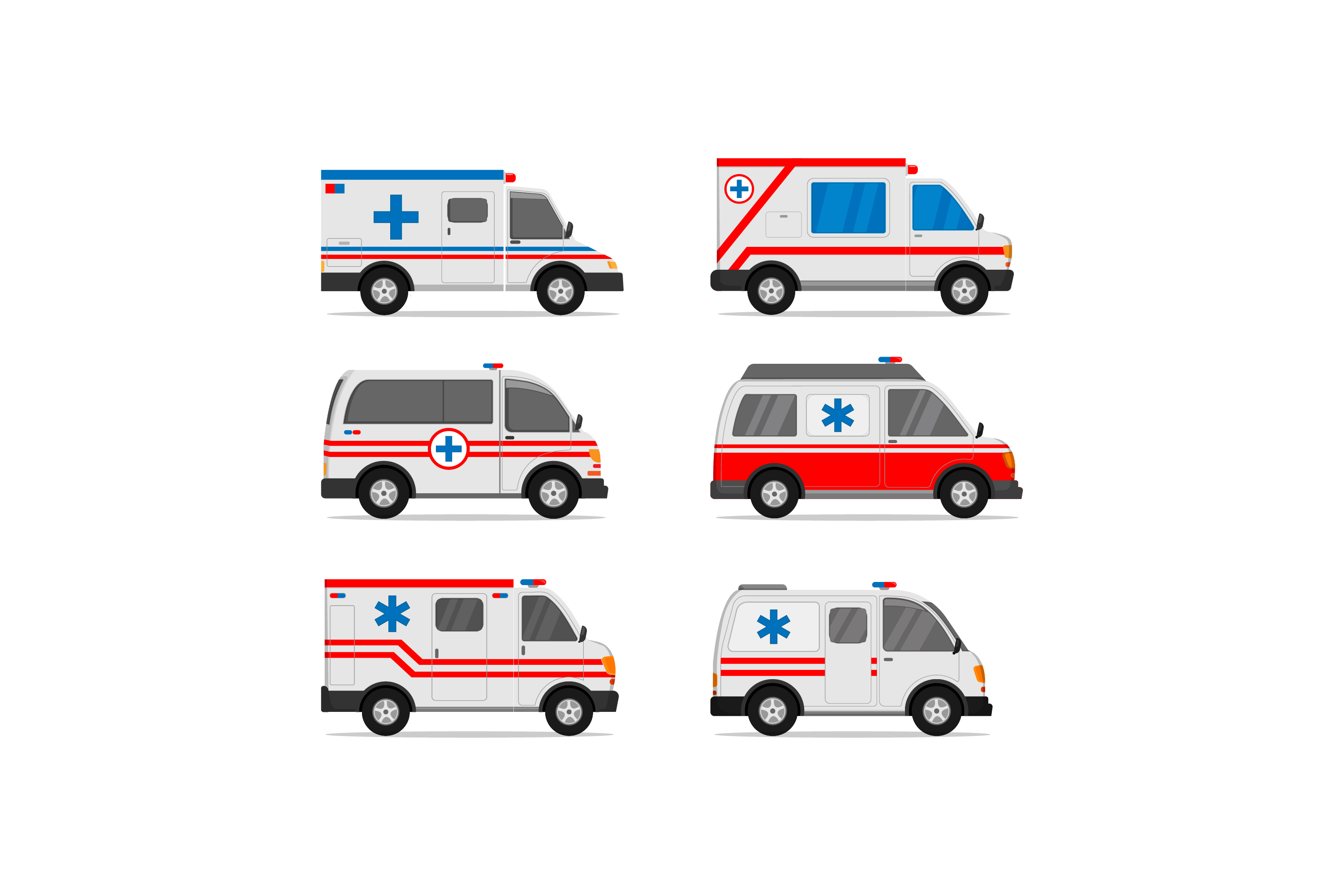 Download Free Set Of Ambulance Vector Designs Grafico Por Sabavector for Cricut Explore, Silhouette and other cutting machines.