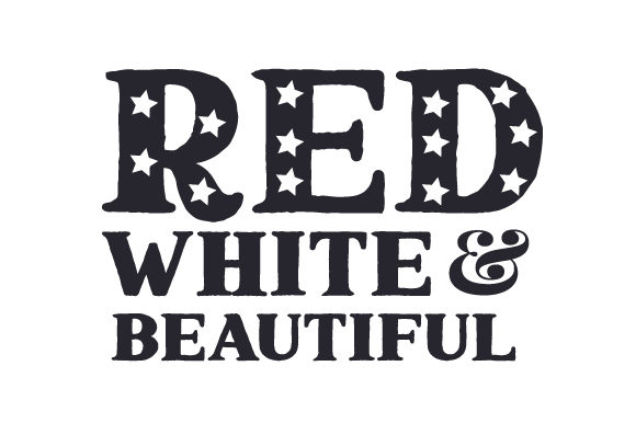 Red, White & Beautiful Independence Day Craft Cut File By Creative Fabrica Crafts