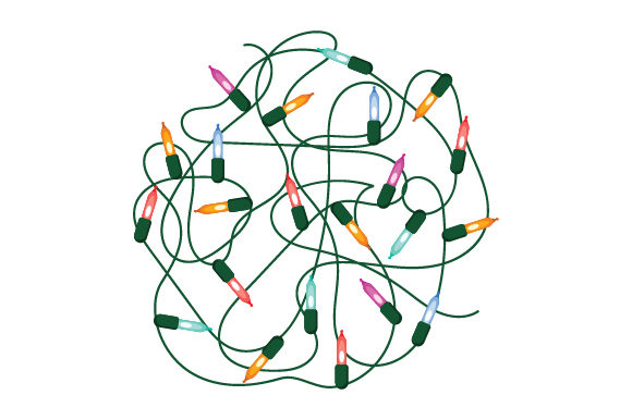 Tangle of Christmas Lights in a Ball Christmas Craft Cut File By Creative Fabrica Crafts