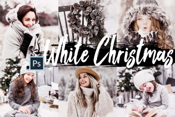 Print on Demand: 05 White Christmas Photoshop Actions ACR Graphic Actions & Presets By 3Motional