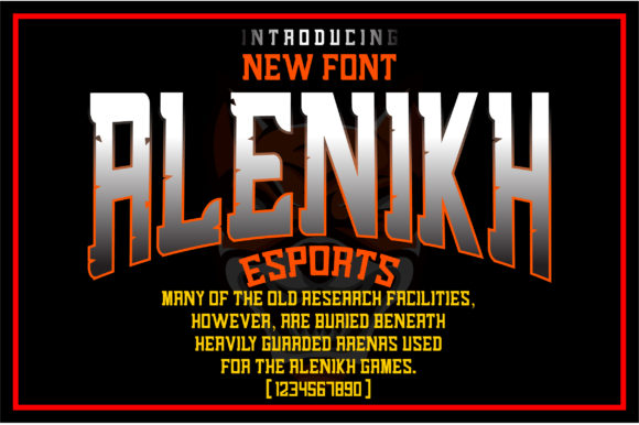 Print on Demand: Alenikh Sports Blackletter Font By Ikhsan Hidayat