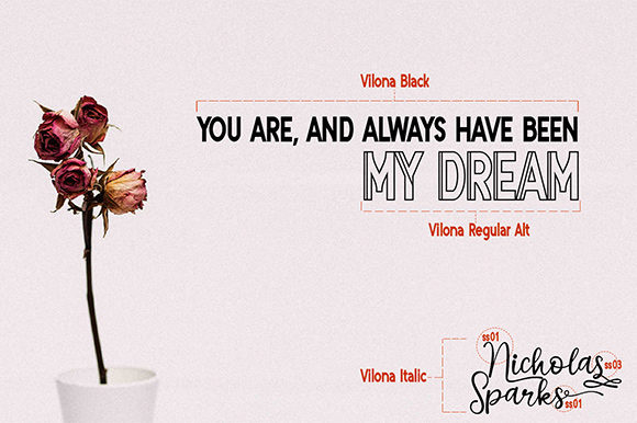 Print on Demand: Vilona Script & Handwritten Font By Nico Muslib - Image 4