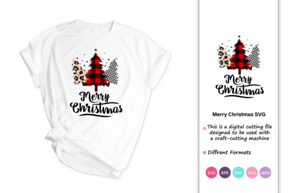 Download Free Merry Christmas Christmas Tree Graphic By Iprintasty Creative for Cricut Explore, Silhouette and other cutting machines.