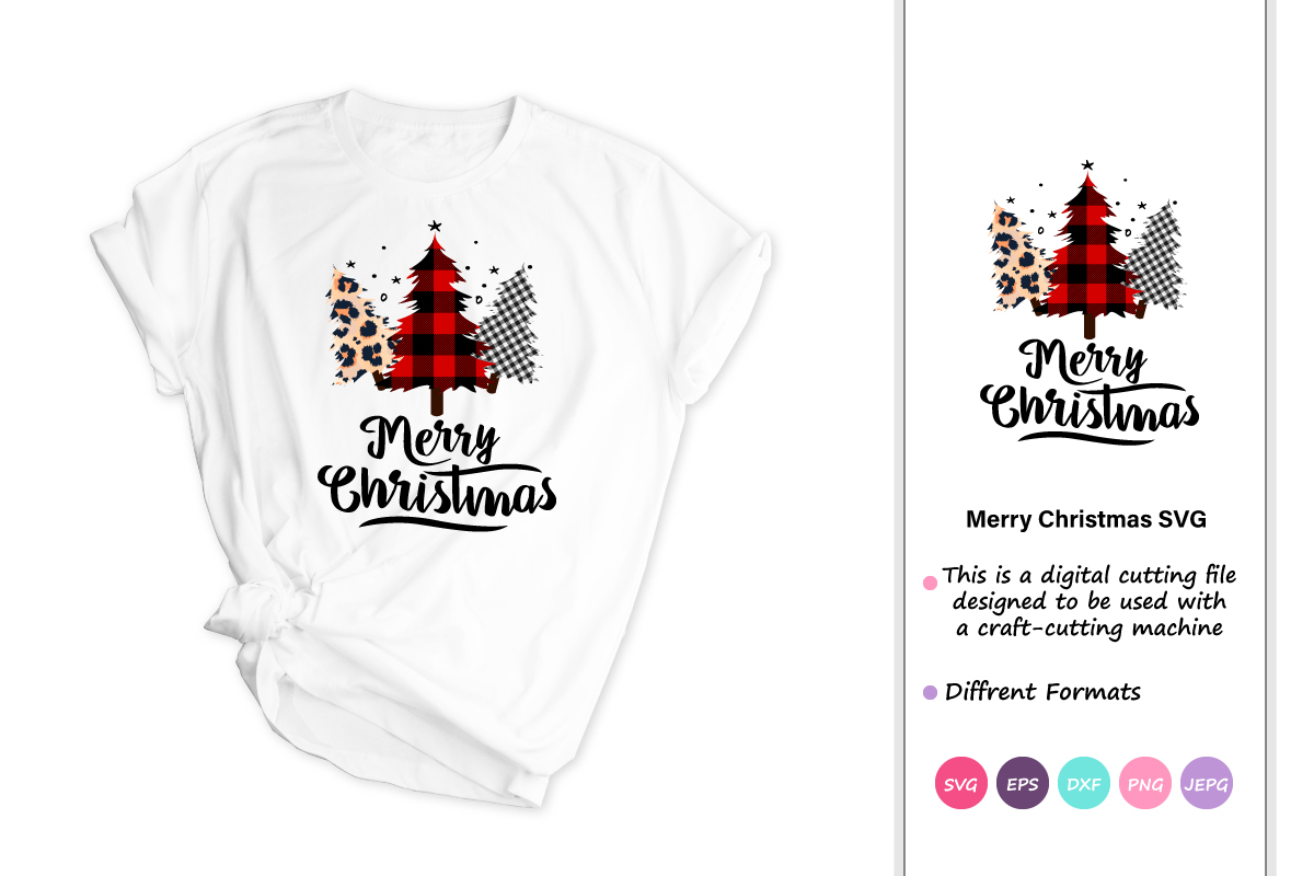 Download Free Merry Christmas Christmas Tree Graphic By Iprintasty Creative Fabrica for Cricut Explore, Silhouette and other cutting machines.