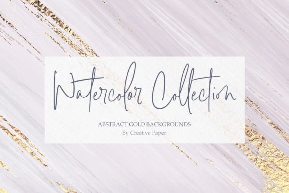Print on Demand: Gold Watercolor & Oil Paint Collections Graphic Textures By Creative Paper - Image 13