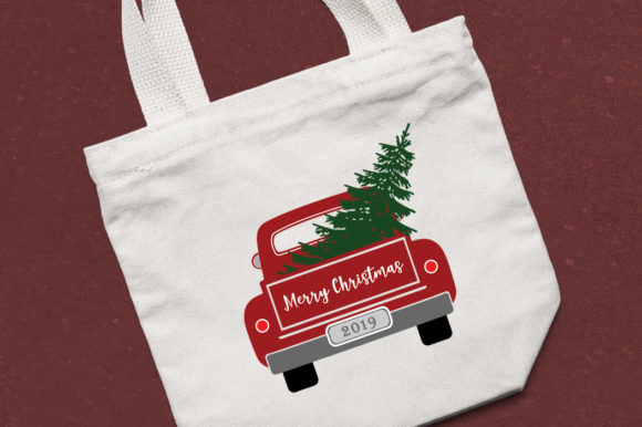 Christmas Truck with Tree Graphic Illustrations By Gleenart Graphic Design - Image 3