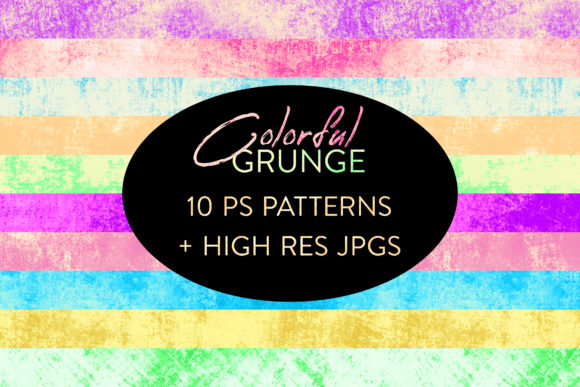 Print on Demand: Seamless Colorful Grunge Patterns Graphic Actions & Presets By OA Design