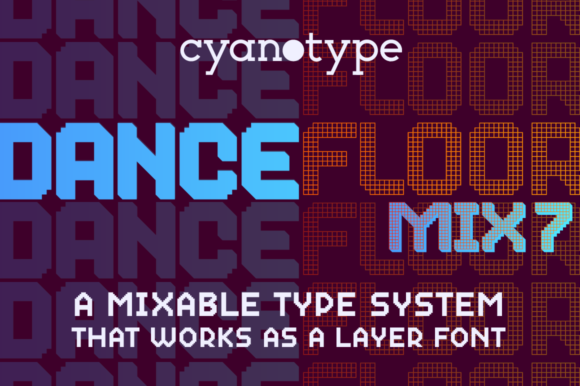 Print on Demand: Dance Floor Mix 7 Display Font By cyanotype - Image 1