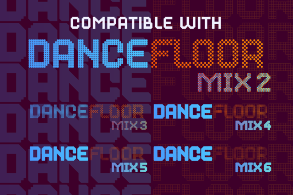 Print on Demand: Dance Floor Mix 7 Display Font By cyanotype - Image 3