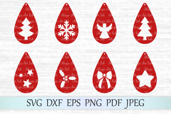 Download Free Christmas Earrings Svgs Graphic By Magicartlab Creative Fabrica for Cricut Explore, Silhouette and other cutting machines.