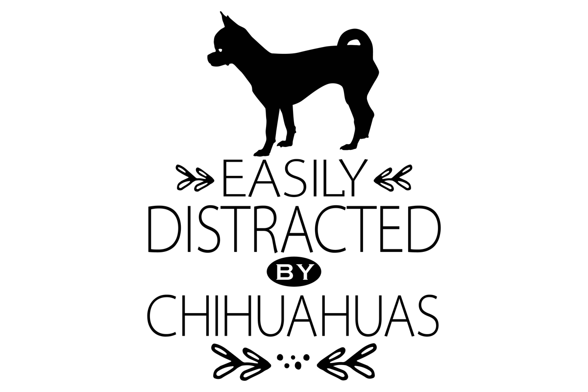 Download Free Easily Distracted By Chihuahuas Graphic By Idrawsilhouettes SVG Cut Files
