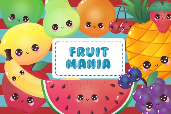 Print on Demand: Fruit Mania Clipart Graphic Illustrations By JM_Graphics