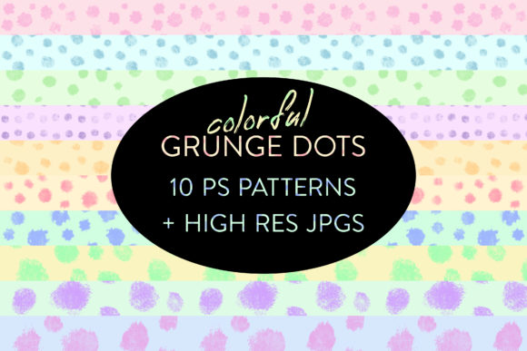 Print on Demand: Seamless Colorful Grunge Dot Patterns Graphic Actions & Presets By OA Design