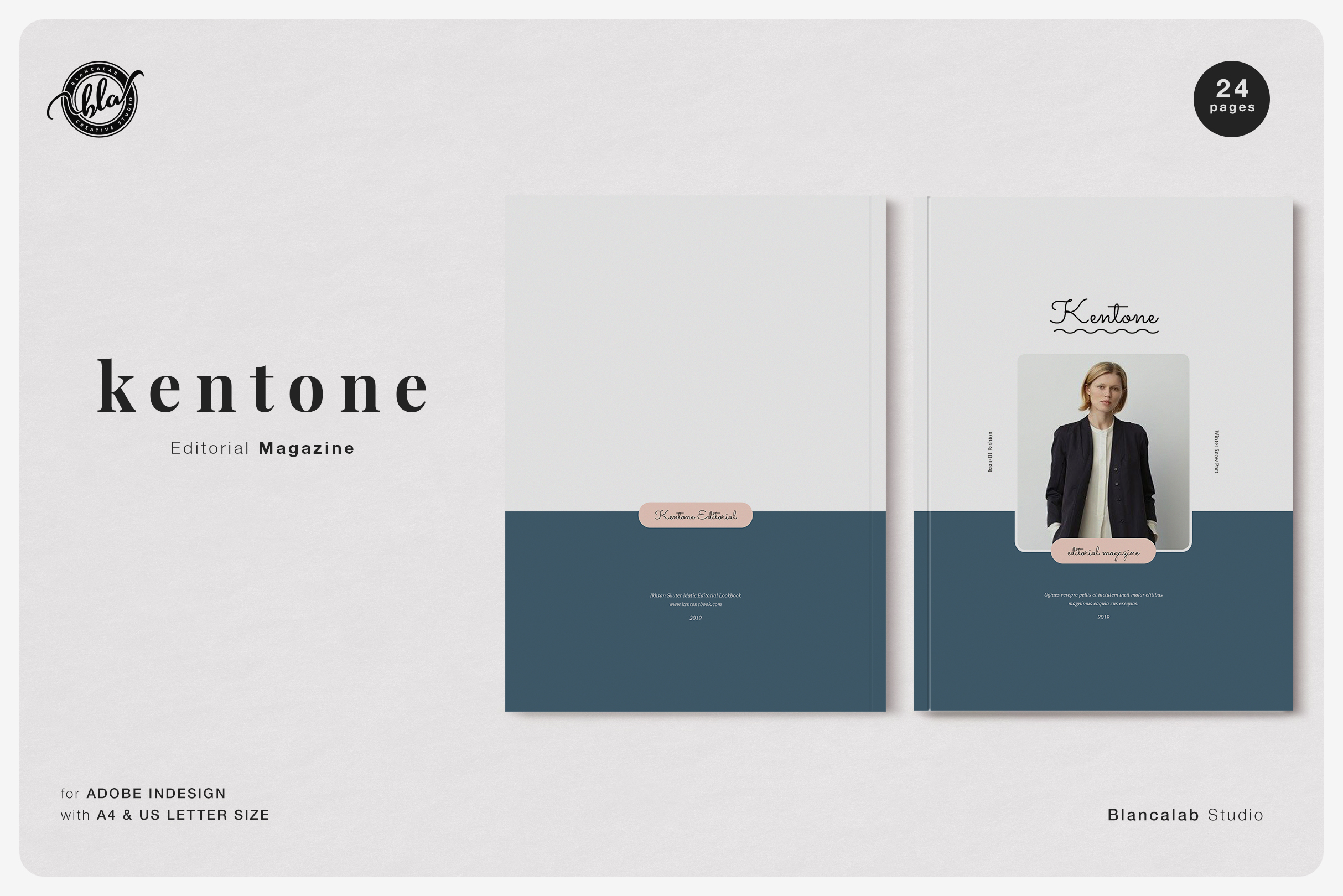 Download Free Kentone Editorial Magazine Graphic By Blancalab Studio Creative Fabrica for Cricut Explore, Silhouette and other cutting machines.