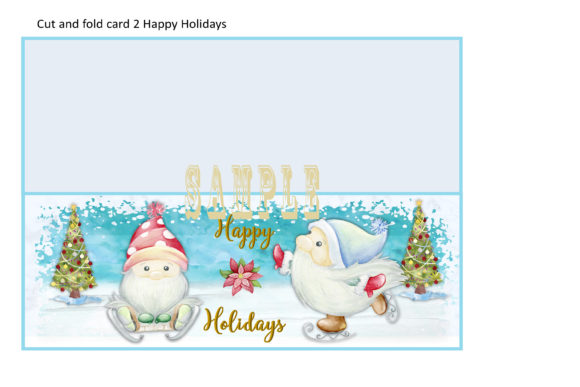 Print on Demand: Christmas Gnome Card Making Kit 3 Design Graphic Crafts By The Paper Princess - Image 4