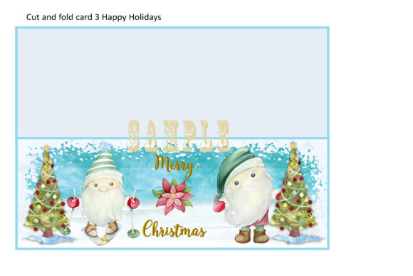 Print on Demand: Christmas Gnome Card Making Kit 3 Design Graphic Crafts By The Paper Princess - Image 5