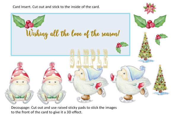 Print on Demand: Christmas Gnome Card Making Kit 3 Design Graphic Crafts By The Paper Princess - Image 6