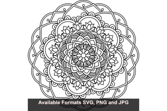 Download Free Mandala Art 400 Graphic Graphic By Iwantto Us Creative Fabrica for Cricut Explore, Silhouette and other cutting machines.