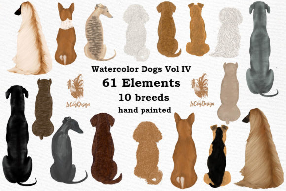 Dog Clipart Graphic Illustrations By LeCoqDesign