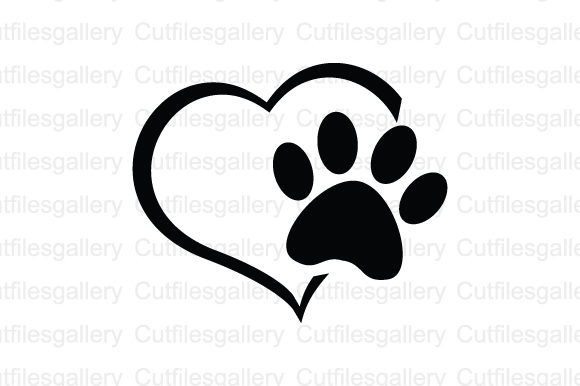 Download Free Paw Heart Graphic By Cutfilesgallery Creative Fabrica SVG Cut Files
